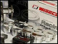 BBC CHEVY 496 WISECO FORGED PISTONS 4.310  060 OVER +16cc DOME KP440A6