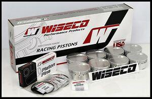 BBC CHEVY 632 WISECO FORGED PISTONS 4.600 -7.5cc DH DISH  WD-01108