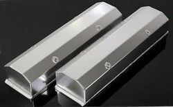 SBC CHEVY FABRICATED TALL ALUMINUM VALVE COVERS NO ACC. HOLES 6350-S