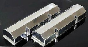 SBC CHEVY FABRICATED TALL ALUMINUM VALVE COVERS NO ACC. HOLES # 6147-POL