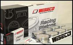 SBC CHEVY 350 WISECO FORGED PISTONS & RINGS 040 OVER FLAT TOP KP422A4-4.040-FT