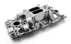 SBC Chevy Qualifier 1957-95 Dual Plane Intake Polished PCE 147.1015 CLEARANCE