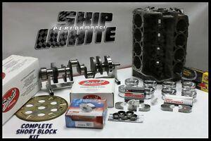 BBC CHEVY 555 DART SHORT BLOCK FORGED PISTONS SCAT CRANK & RODS +12.5CC DOME