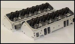 SBC CHEVY 400 406 NKB-200cc ALUMINUM HEADS STEAM HOLES 64cc STR. PLUG NKB-274-SH