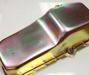 SBC CHEVY 1pcRMS PASS. SIDE DIPSTICK 5 QT ZINC OIL PAN 86-UP # 9414-Z CLEARANCE