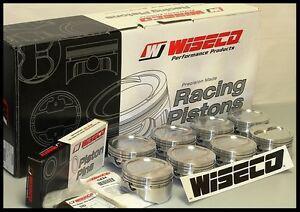SBC CHEVY 350 WISECO FORGED PISTONS STD BORE -10cc RD DISH TOP KP421AS