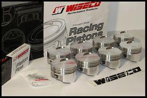 BBC CHEVY 496 WISECO FORGED PISTONS 4.310 BORE 060 OVER FLAT TOP KP443A6
