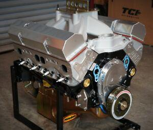 SBC CHEVY 434 PRO STREET MOTOR, AFR HEADS, CRATE MOTOR 650 hp BASE ENGINE