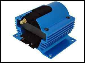 12 VOLT EXTERNAL IGNITION COIL E-CORE STYLE BLUE # 6930-BL CLEARANCE SPECIAL!