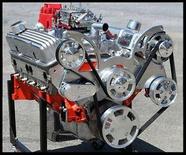 CHEVY SBC TURN KEY 406 STAGE 3.0 DART BLOCK CRATE MOTOR 530 HP-SERPENTINE