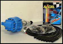 FORD 289 302 HEI LONG SHAFT DISTRIBUTOR & ACCEL WIRES 6502-5-BLUE+5040-K-KIT