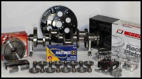 SBC CHEVY 434 ASSEMBLY SCAT & WISECO -9.5cc Dh. 4.155 PISTONS 2PC RMS-400 MAINS