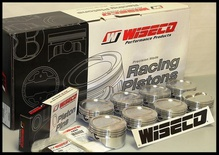 """SBC CHEVY 383 WISECO FORGED PISTONS & RINGS 4.060 -24cc RD DISH 6"""" ROD KP458A6"""