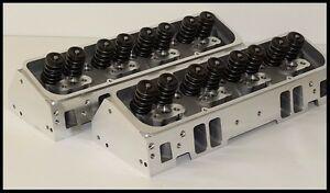 SBC CHEVY 350 383 406 NKB-200cc ALUMINUM HEADS 64cc ANGLE PLUG NKB-274-A