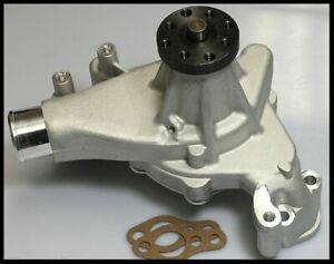 SBC CHEVY LONG WATER PUMP WITH MACHINED IMPELLER, POLISHED, S-3951
