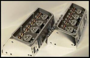 SBC CHEVY 350 383 406 NKB ALUMINUM HEADS 64cc CHAMBERS 200cc NKB-BARE STR. PLUG