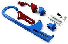 THROTTLE CABLE BRACKET FOR HOLLEY CARBURETOR # LONG BLUE-SHORT RED