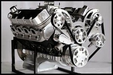 BBC CHEVY 572 TURN KEY ENGINE, DART BLOCK 740 hp-SERPENTINE