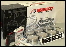 SBC CHEVY 350 WISECO FORGED PISTONS 030 OVER -10cc RD DISH TOP KP421A3