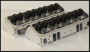 SBC CHEVY 327 350 383 NKB-200cc ALUMINUM HEADS 64cc STRAIGHT PLUG NKB-272