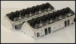 SBC CHEVY 350 383 406 NKB-200cc ALUMINUM HEADS 68cc STRAIGHT PLUG NKB-272-PBM
