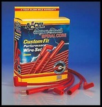 ACCEL 5000 STR. BOOT WIRES FORD & BBC CHEVY HEI & POINT DIST 5040-R CLEARANCE