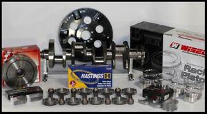 """350 355 ASSEMBLY SCAT CRANK 5.7"""" RODS WISECO -10cc Dh STD PISTONS 2PC RMS-350"""