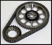 PBM CHEVY SBC BILLET TIMING CHAIN SET FOR RETRO ROLLER OR FLAT TAPPET CAMS 8981T