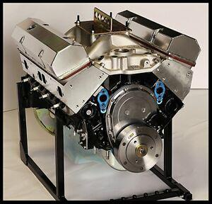 SBC CHEVY 383 STROKER STAGE 2.0 CRATE MOTOR 503 hp BASE ENGINE