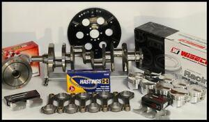 SBC CHEVY 427 ASSEMBLY SCAT & WISECO +10cc DOME 4.125 PISTONS 2PC RMS-350 MAINS